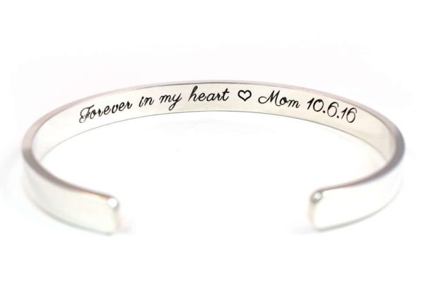 Forever in my heart cuff
