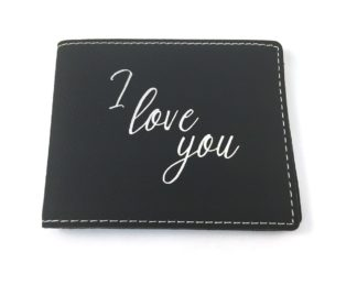 Black I Love You Wallet