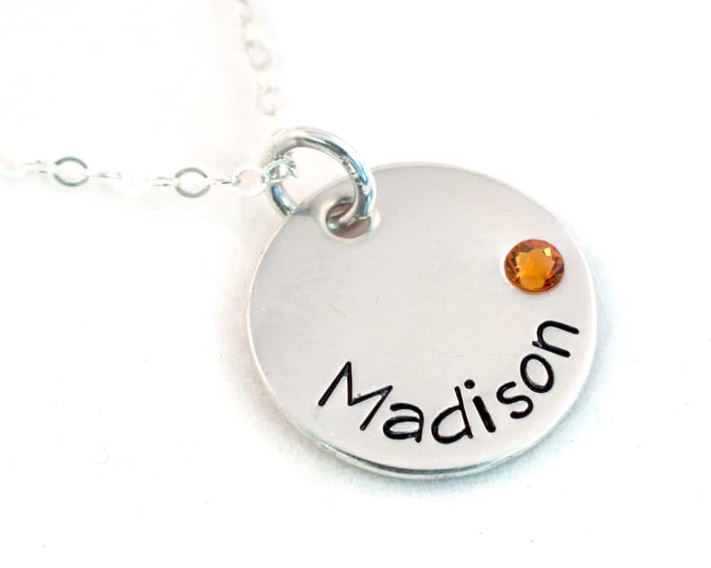 408440f346e4de Birthstone Name Necklace - Sterling Silver | Hope of My Heart Designs