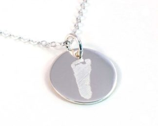 Tiny Footprint Necklace